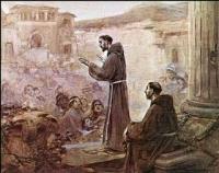 Monje predicando a los indígenas
