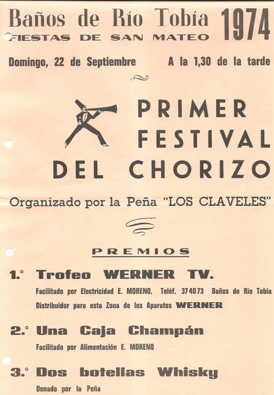 Cartel del Primer Festival del Chorizo